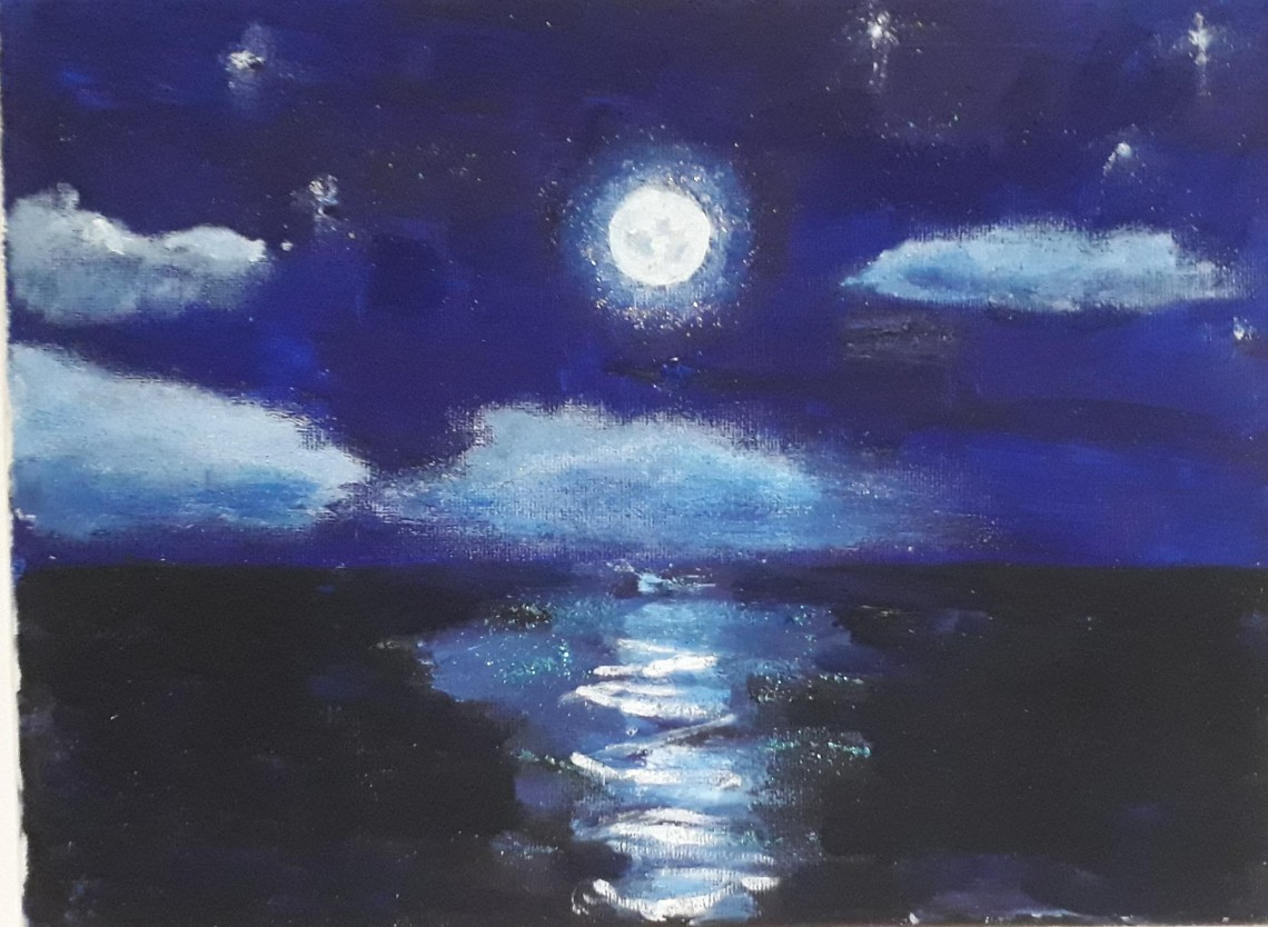 moon on sea done